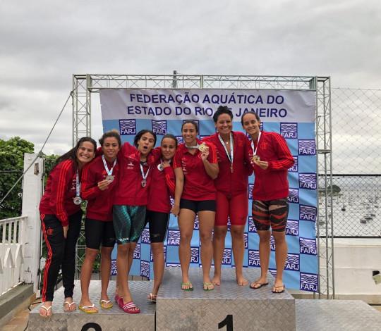 Flamengo levanta o título do Campeonato Estadual de Verão de Natação