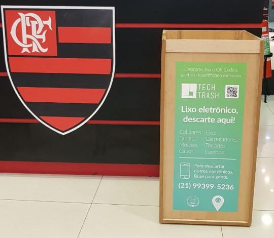Lojas Oficiais do Flamengo promovem coleta de lixo eletrônico