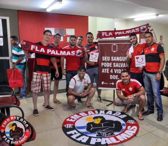 Embaixada FlaPalmas participa da campanha de doação de sangue