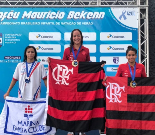 Flamengo encerra participação no Campeonato Brasileiro Infantil de Natação