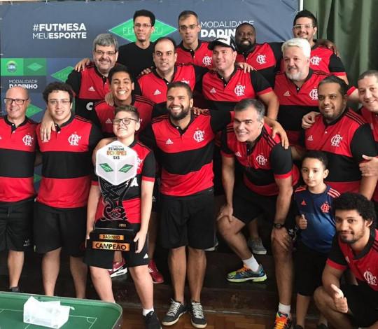 Flamengo é tetracampeão estadual de Futebol de Mesa