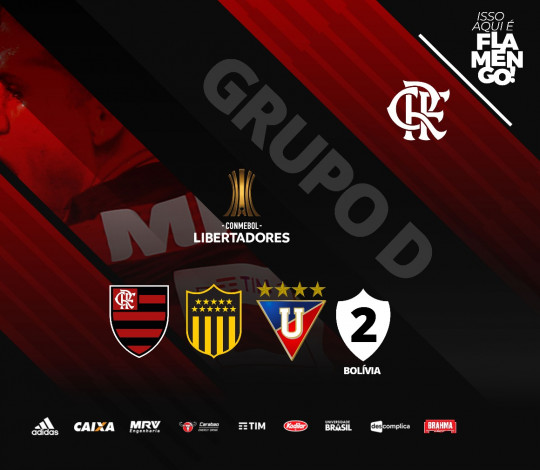 Flamengo encara Penarol no Grupo D da Conmebol Libertadores