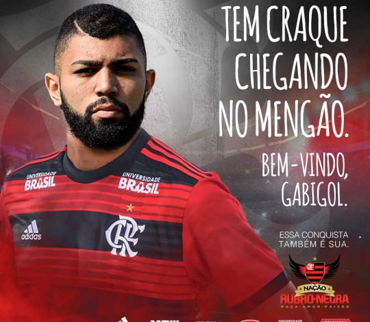Gabigol é do Flamengo! Atacante é mais um reforço rubro-negro para a temporada.