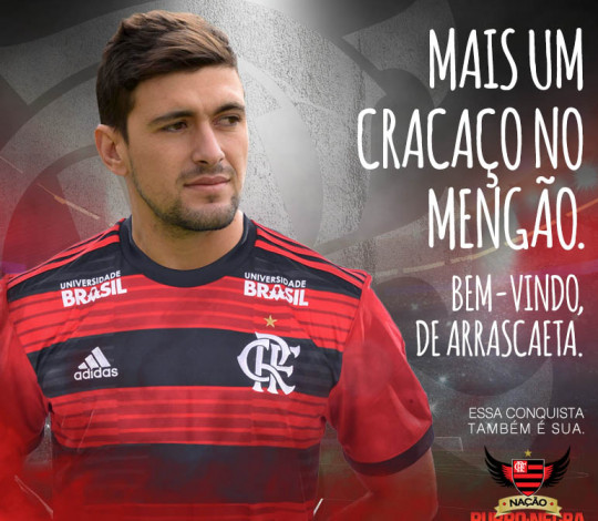 De Arrascaeta é do Flamengo!