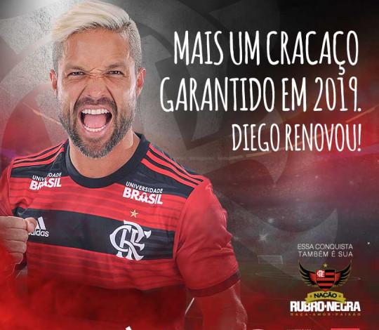 Diego Ribas renova contrato com o Flamengo