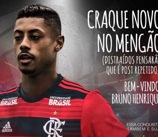 Bruno Henrique é o quarto reforço do Flamengo