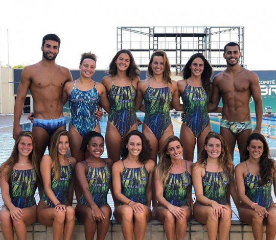 Rubro-negros disputam o French Open de nado artístico pela Seleção Brasileira