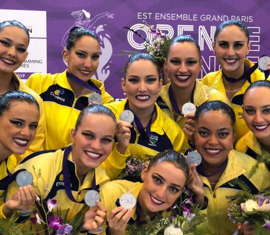 Rubro-negros conquistam quatro medalhas no French Open de nado artístico