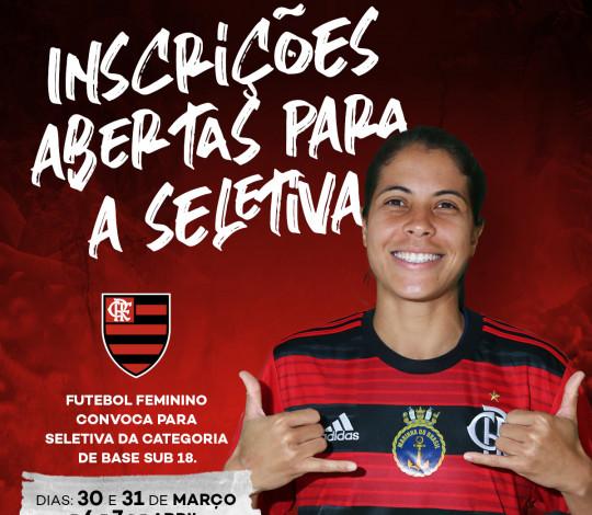 Flamengo abre seletiva para futebol feminino Sub-18