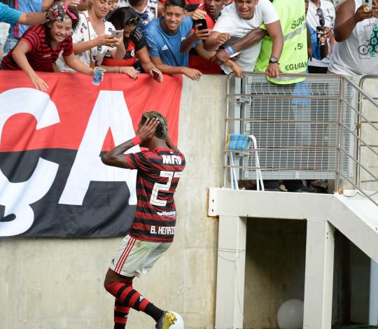 Bruno Henrique fala sobre grande atuação no clássico contra o Fluminense