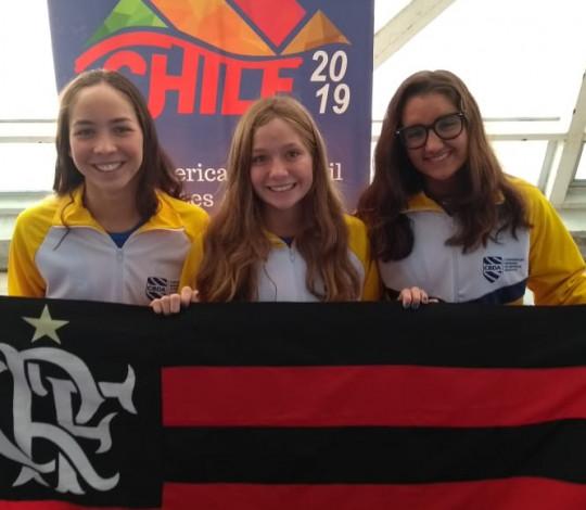 Atletas rubro-negras conquistam medalhas no primeiro dia do Sul-Americano Juvenil de Natação