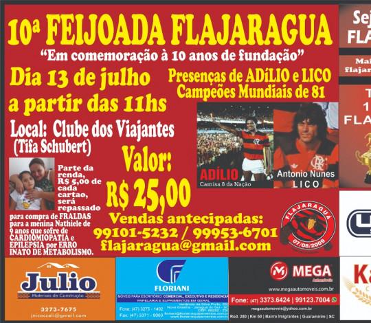 Lançamento da 10ª Feijoada da FlaJaraguá
