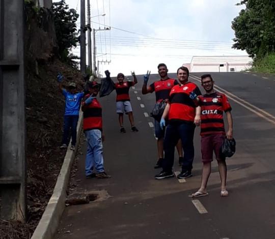 Ação social contra a dengue do Consulado FLA MARAVILHA SC