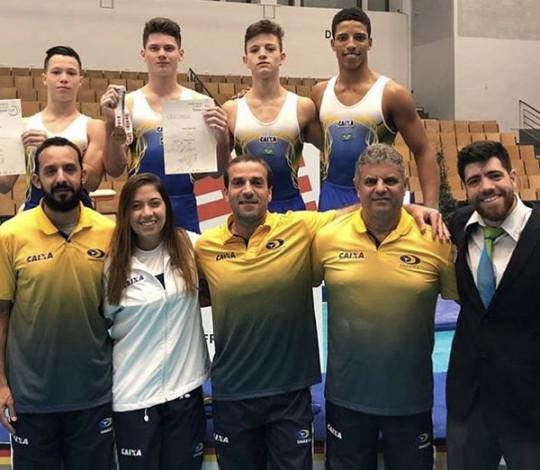 Josué Heliodoro é o segundo melhor atleta brasileiro no Junior Team Cup