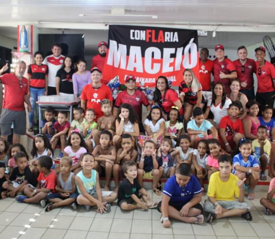 Ação social de páscoa da Embaixada ConFLAria Maceió