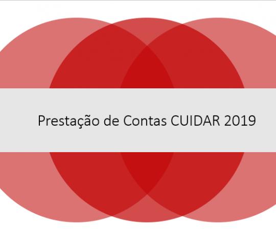 CUIDAR: Prestação de contas Janeiro – Março 2019