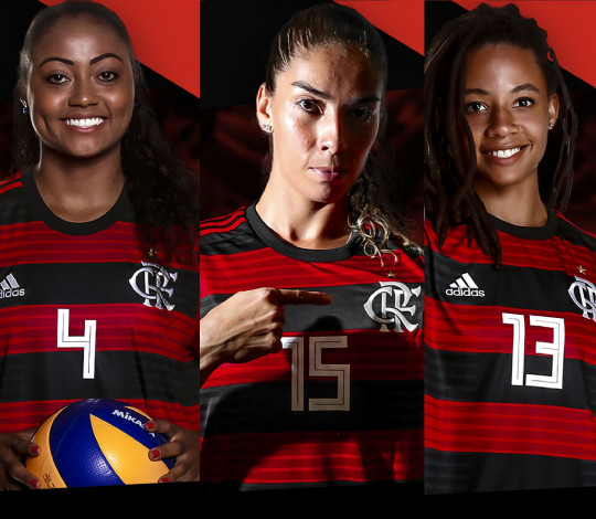 Elas ficam! Angelica Caboclo, Jessica Silva e Nandyala Gama renovam com o Flamengo