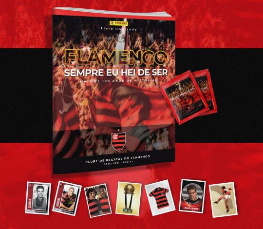Com exposição e manhã de autógrafos, Flamengo lança álbum de figurinhas na Gávea