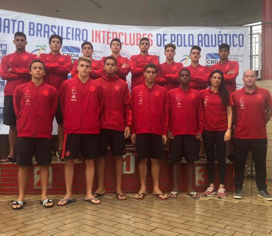Sub-18 do Flamengo estreia com pé direito no Brasileiro Interclubes de Polo Aquático
