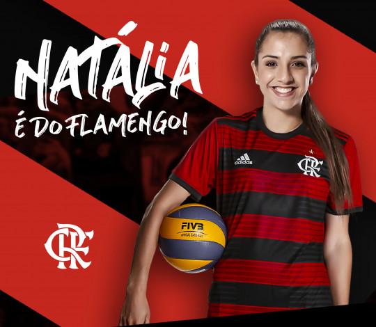 Natália Monteiro chega ao vôlei do Flamengo para a Superliga 2019/20