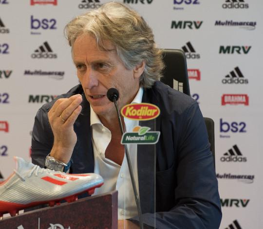 Jorge Jesus é apresentado como novo treinador do Flamengo