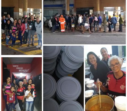 Embaixada Fla Campos-RJ realiza sopão solidário e campanha do agasalho