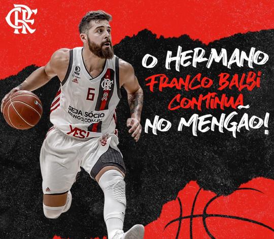 Ele fica! Melhor armador do NBB, Franco Balbi renova o contrato com o Flamengo
