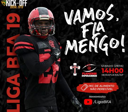 Flamengo Imperadores enfrenta a Portuguesa no kickoff social da BFA 2019