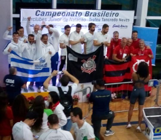Flamengo conquista a terceira colocação geral no Brasileiro Júnior de Natação de Inverno