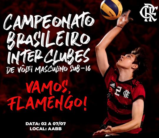Flamengo é anfitrião do Campeonato Brasileiro Interclubes Sub-16 de Vôlei
