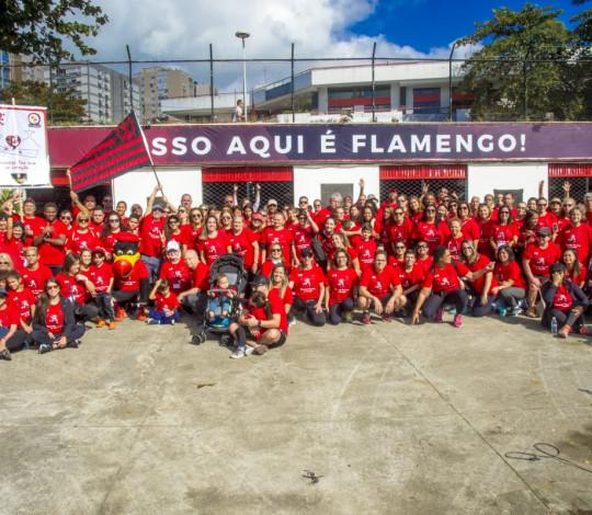 """Caminhada do projeto """"Flamengo faz bem ao coração"""" movimentou a Lagoa neste domingo"""