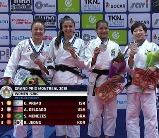Sarah Menezes conquista o bronze no Grand Prix de Montreal