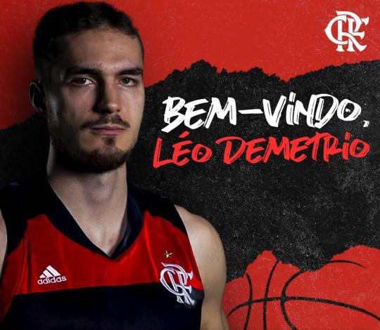 Léo Demetrio é o novo jogador do FlaBasquete