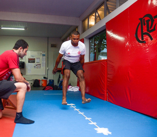 CUIDAR realiza avaliações físicas nos atletas das modalidades olímpicas do Flamengo