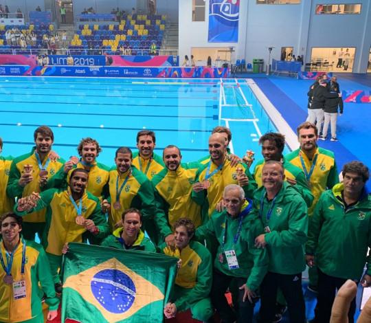 Seleção Brasileira de polo aquático fica com o bronze nos Jogos Pan-Americanos