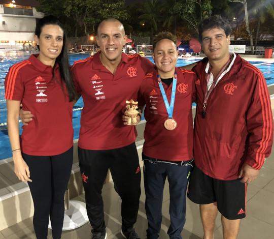 Medalhistas no Pan retornam aos treinos de polo aquático no Flamengo