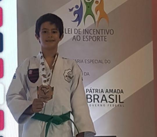 João Pedro Aguerres é bronze no Brasileiro Sub-13 de judô