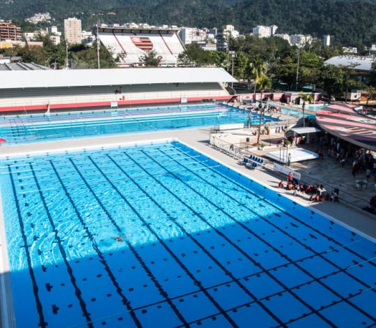 Com nova piscina, Flamengo recebe o Circuito Celebridades de Natação