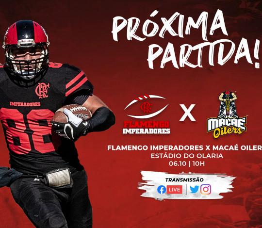 Precisando vencer, Flamengo Imperadores recebe o Macaé Oilers no Rio de Janeiro