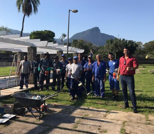 Flamengo apoia a revitalização do Jardim de Alah