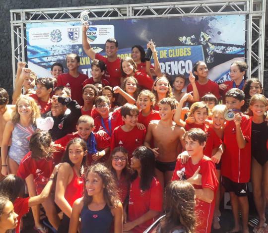 Time Flamengo conquista o título do Festival Sudeste Mirim e Petiz de Natação