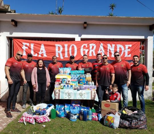 Ação solidária limpeza da Fla Rio Grande