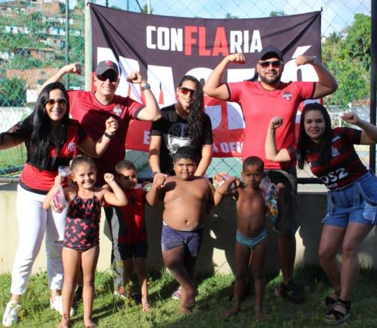 Embaixada ConFLAria Maceió faz ação de Dia das Crianças