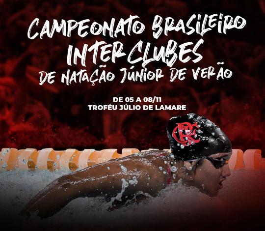 Flamengo recebe o Campeonato Brasileiro Interclubes de Natação Júnior na próxima semana