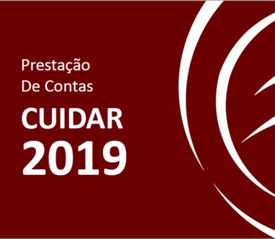 Prestação de contas CUIDAR - JUN, JUL, AGO 2019