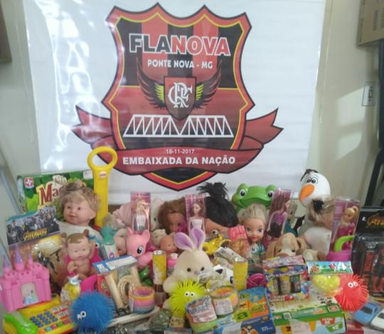 Embaixada FlaNova promove arrecadação de brinquedos