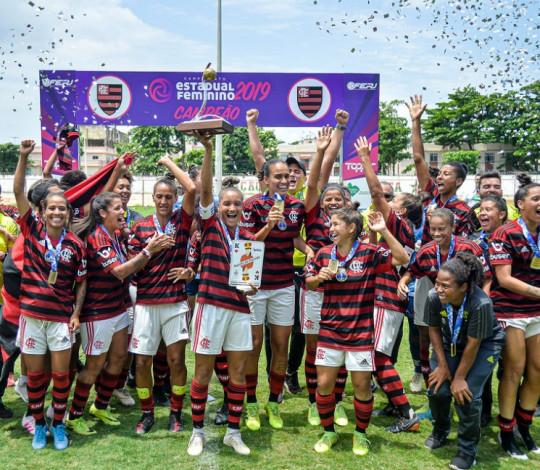 De virada! Flamengo/Marinha vence o Fluminense por 3 a 1 e é pentacampeão do Carioca Feminino