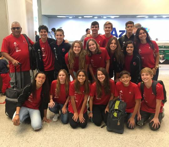 Time Flamengo disputa o Campeonato Brasileiro Interclubes Infantil de Natação
