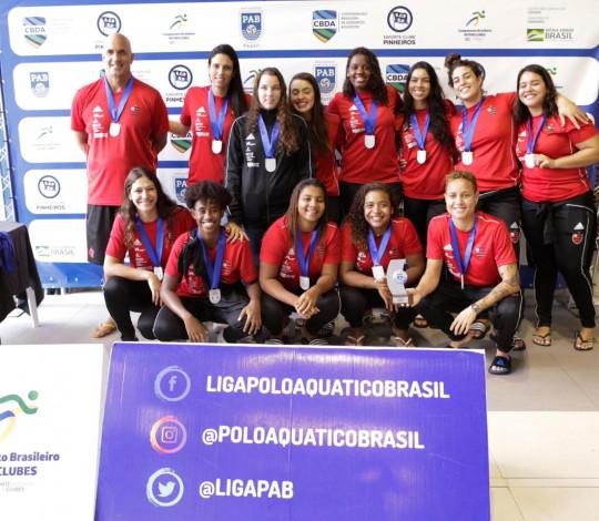 Flamengo conquista a prata na Liga PAB Feminina de Polo Aquático