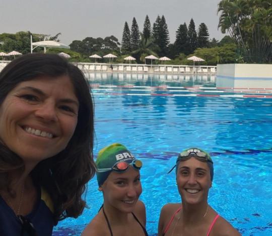 Laura Miccuci participa de treinamento com a Seleção Brasileira de Nado Artístico, em São Paulo